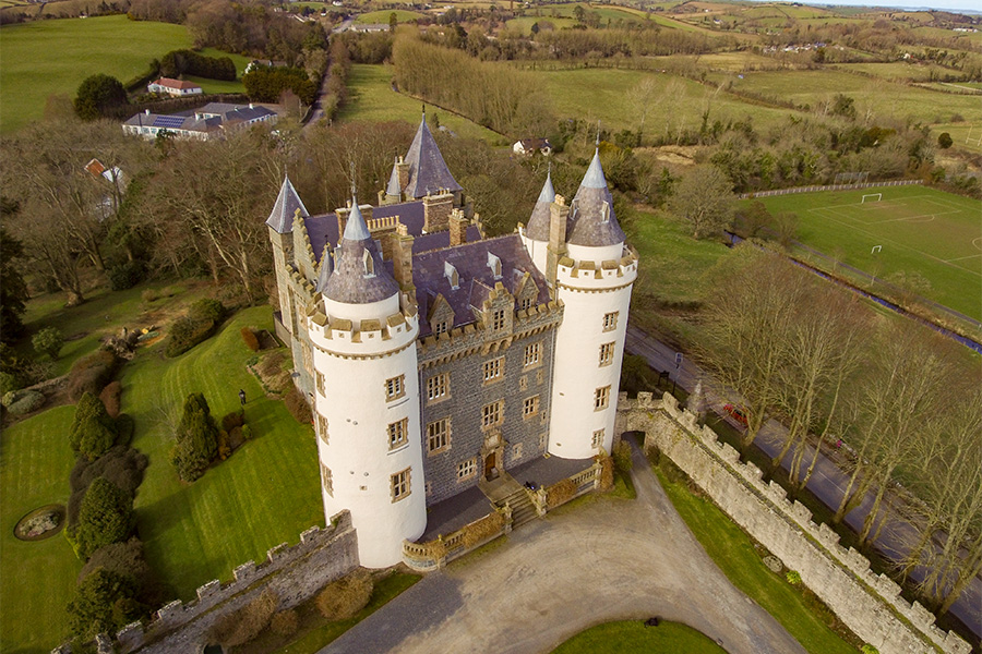 Property Aerial Photography in Northern Ireland - Killyleagh Castle